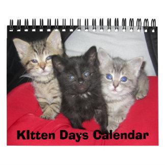 Calendario de los días del gatito