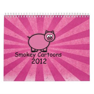 Calendario de los dibujos animados 2012 de Smokey