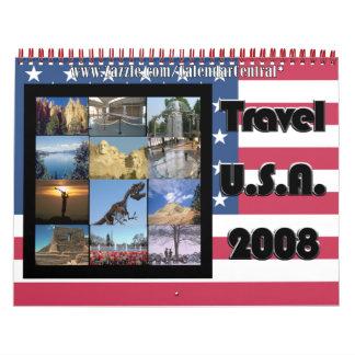 Calendario de los E.E.U.U. 2008 del viaje
