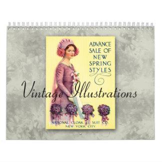 Calendario de los ejemplos 2013 del vintage