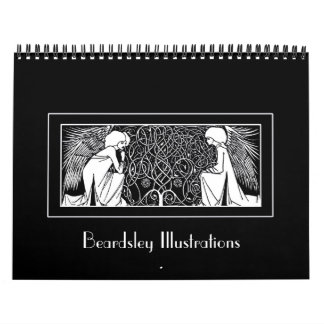 Calendario de los ejemplos de Nouveau del arte de