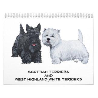CALENDARIO de los escoceses y de Westies