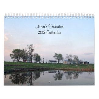 Calendario de los favoritos 2013 de la mamá