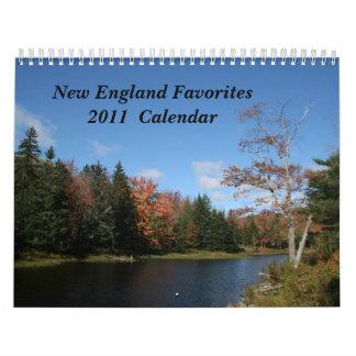Calendario de los favoritos de Nueva Inglaterra