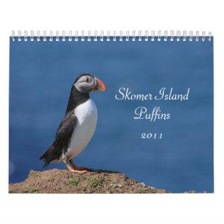 Calendario de los frailecillos 2011 de la isla de