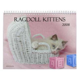Calendario de los gatitos de Ragdoll