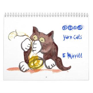 Calendario de los gatos 2014 del hilado de Ellen M