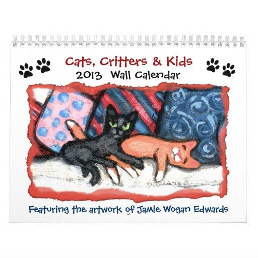Calendario de los gatos, de los Critters y de los
