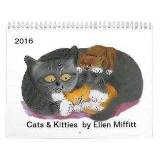 Calendario de los gatos y de los gatitos