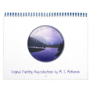 Calendario de los gráficos del río de Saco