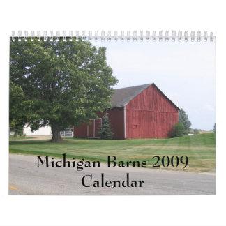 Calendario de los graneros 2009 de Michigan