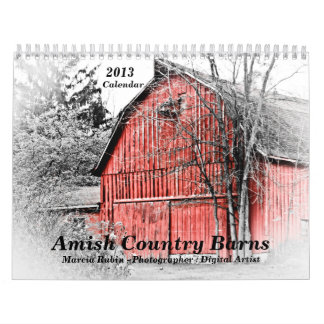 Calendario de los graneros 2013 del país de Amish