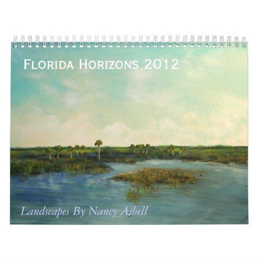 Calendario de los horizontes 2012 de la Florida