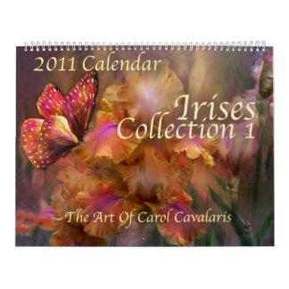 Calendario de los iris Collection1 para 2011