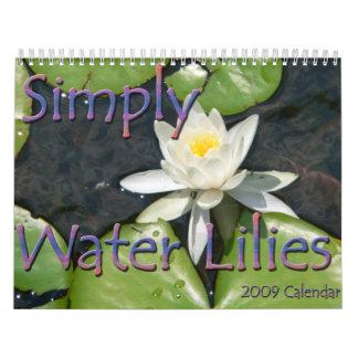 Calendario de los lirios de agua