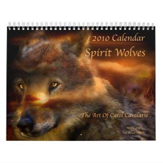 Calendario de los lobos 2010 del alcohol