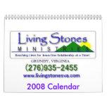 ¡Calendario de los ministerios 2008 de las piedras