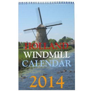 Calendario de los molinoes de viento 2014 de