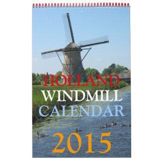 Calendario de los molinoes de viento 2015 de Holan