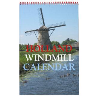 Calendario de los molinoes de viento de Holanda