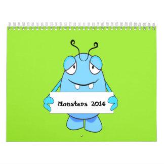 Calendario de los monstruos 2014 del dibujo