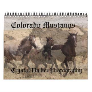 Calendario de los mustangos de Colorado
