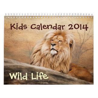 Calendario de los niños - 2014 - vida salvaje