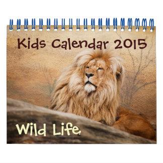 Calendario de los niños - 2015 - vida salvaje