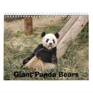Calendario de los osos de panda gigante osos de p
