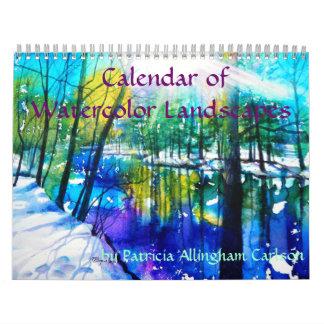 Calendario de los paisajes de la acuarela