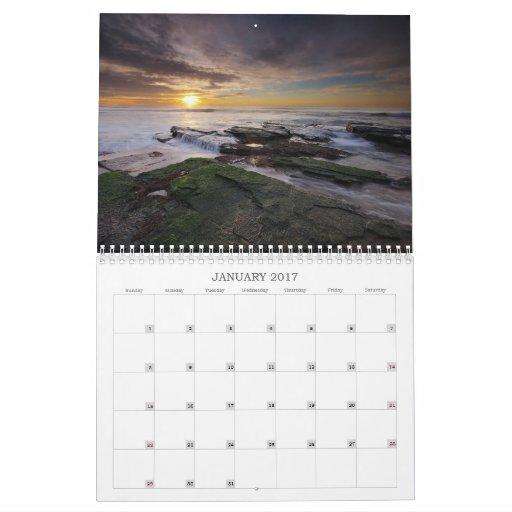 Calendario de los paisajes marinos