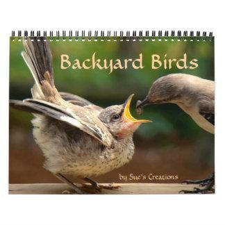 Calendario de los pájaros del patio trasero