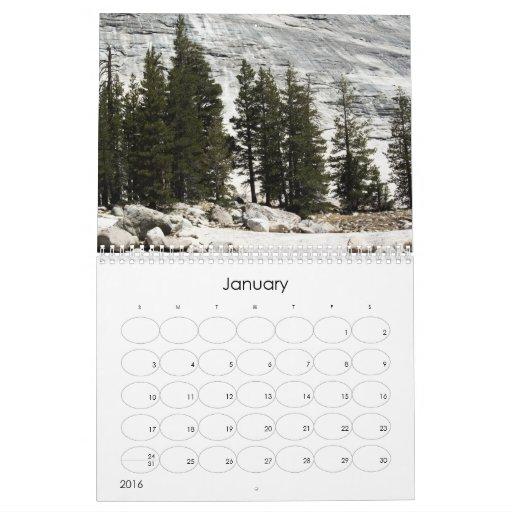 Calendario de los parques - Yosemite NP