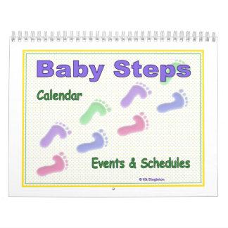 Calendario de los pasos de bebé para el bebé y la