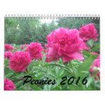 Calendario de los Peonies 2016