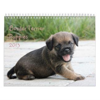 Calendario de los perritos 2013 de Terrier de fron
