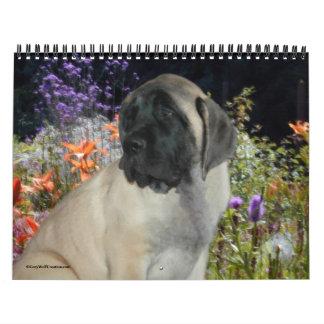 Calendario de los perritos del mastín