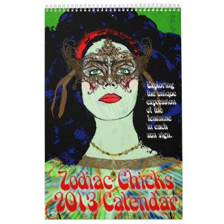 Calendario de los polluelos 2013 del zodiaco