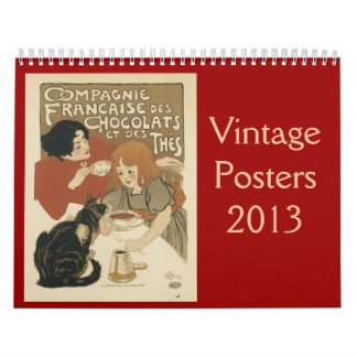 Calendario de los posters 2013 del vintage