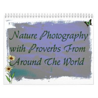 Calendario de los proverbios de la fotografía de
