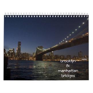 calendario de los puentes de Brooklyn y de Manhatt