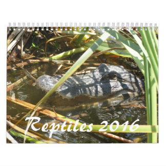 Calendario de los reptiles 2016