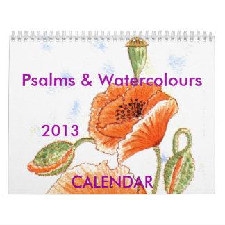 """Calendario de los """"salmos y de los Watercolours"""""""