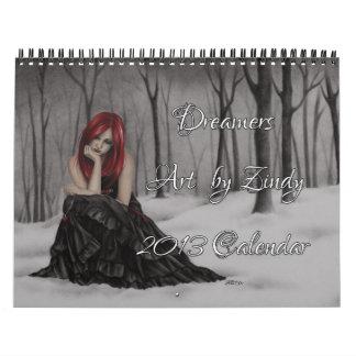 Calendario de los soñadores 2013 por Zindy
