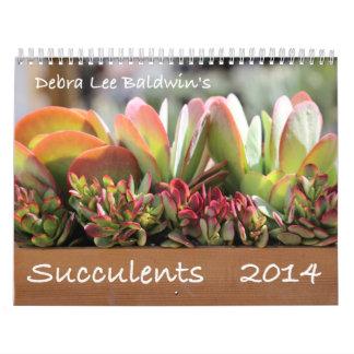 Calendario de los Succulents 2014 de Debra Lee Bal