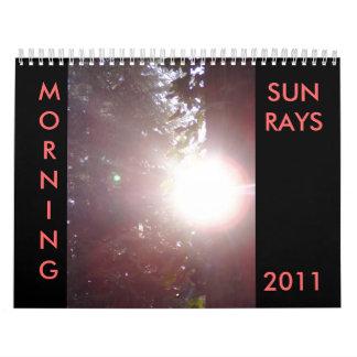 Calendario de los SUNRAYS 2011 de la MAÑANA