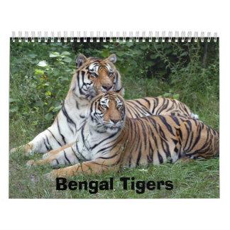 Calendario de los tigres de Bengala tigres de Ben
