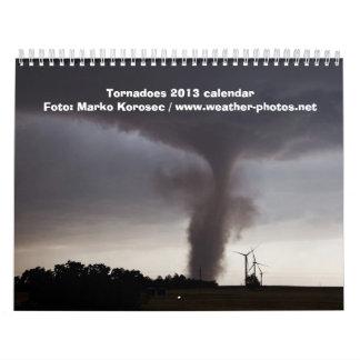 Calendario de los tornados 2013