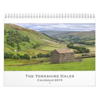 Calendario de los valles 2015 de Yorkshire