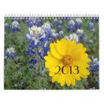 Calendario de los Wildflowers de Tejas